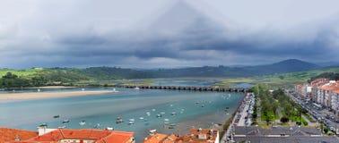 San Vincente De Los angeles Barquera Wioska, panorama strzał Obraz Stock