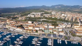 San Vincenzo, Italy. City as seen from the air Stock Image
