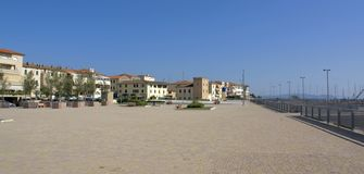 San Vincenzo. Town named San Vincenzo located in Tuscany (Italy Stock Photos