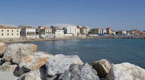 San Vincenzo. Town named San Vincenzo located in Tuscany (Italy Royalty Free Stock Images