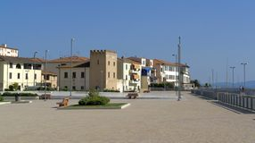 San Vincenzo. Town named San Vincenzo located in Tuscany (Italy Royalty Free Stock Photo