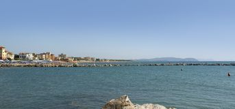San Vincenzo. Town named San Vincenzo located in Tuscany (Italy Stock Photo