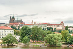 San Vito cathedral and castle, Prague, Czech Republic Stock Image