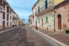 San Vito Chietino, Chieti, Abruzzo, Italien: gata i den gamla släpet Fotografering för Bildbyråer