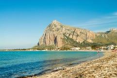 San Vito Lo Capo - Ansicht des Strandes Lizenzfreies Stockbild