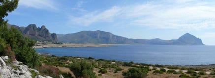 San Vito lo Capo. Bay San Vito lo Capo near Lo zingaro Reservation, Sicily Royalty Free Stock Photography
