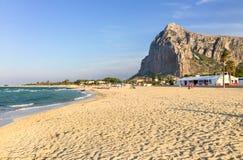 San Vito Lo Capo Beach, Trapani, Italie photo stock