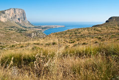 San Vito Lo Capo gulf In Sicily Stock Photos