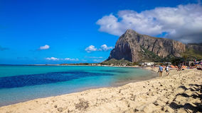 San Vito Lo Capo - mening van het strand Stock Fotografie