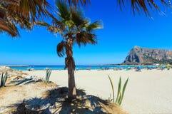 San Vito lo Capo plaża, Sicily, Włochy Zdjęcie Royalty Free