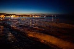 San Vito lo Capo sea at night Royalty Free Stock Images