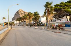 People walking on the promenade in San Vito Lo Capo. royalty free stock image