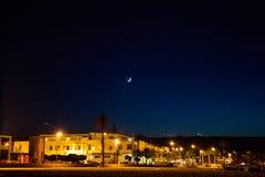 San vito lo capo under the moon Royalty Free Stock Images