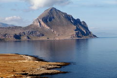 San vito lo capo, a view of the headland Royalty Free Stock Photos