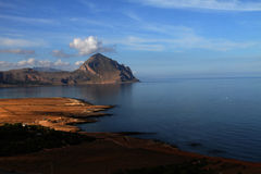 San vito lo capo, a view of the promontory Royalty Free Stock Images