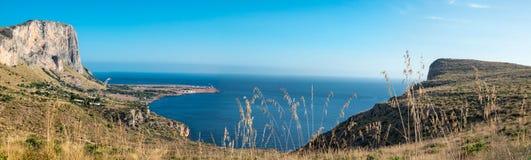 San Vito Lo Capo view sea and sun Stock Photos