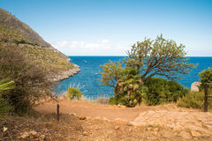 San Vito Lo Capo view sea and sun Royalty Free Stock Photo