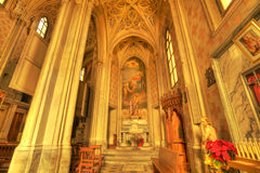 San Vittore church interior. Stock Photo