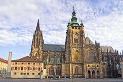 San Vitus Cathedral di Praga Immagine Stock