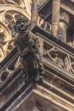 San Vitus Cathedral Gargoyle Statues di Praga Immagine Stock Libera da Diritti