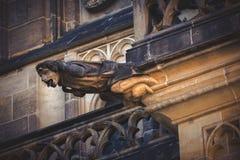 San Vitus Cathedral Gargoyle Statues di Praga Fotografia Stock