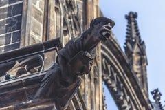 San Vitus Cathedral Gargoyle Statues di Praga Immagini Stock