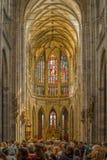 San Vitus Cathedral Interior di Praga Fotografia Stock Libera da Diritti