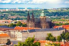 San Vitus della cattedrale a Praga Immagine Stock