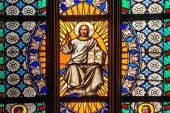 San Vitus Religious Vitrage Windows di Praga Immagine Stock