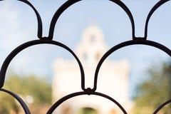 San Xavier Del Bac i Tucson Arizona Arkivbilder