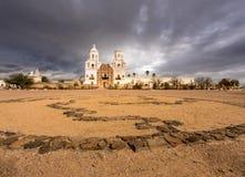 San Xavier del Bac Mission buiten Tucson Arizona royalty-vrije stock fotografie
