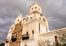 San Xavier del Bac Mission buiten Tucson Arizona royalty-vrije stock afbeelding