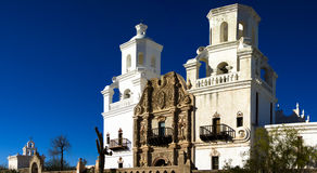 San Xavier del Bac mission church Royalty Free Stock Photos