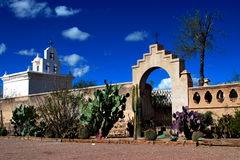 San Xavier del Bac mission church in Tucson, Arizona Stock Photos
