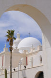 San Xavier Del Bac Mission Gateway Arch Royalty Free Stock Image