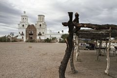 San Xavier del Bac Mission near Tucson, Arizona royalty free stock photography
