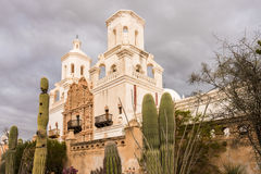 San Xavier del Bac Mission outside Tucson Arizona stock images