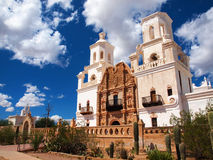 San Xavier del Bac Mission Stock Photo