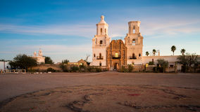 San Xavier Del Bac in Tucson Arizona royalty-vrije stock afbeeldingen