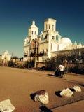 San Xavier Del Bac White Dove del santuario de la misión del desierto imagenes de archivo