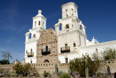 San Xavier Mission Stock Photo
