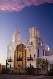 San Xavier Mission. San Xavier spanish catholic church at dusk Royalty Free Stock Image