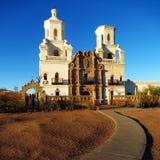San Xavier Mission Christian Achurch Lizenzfreie Stockfotos