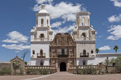 San Xavier Mission. Del Bac In Tucson Arizona Royalty Free Stock Photo