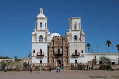 San Xavier Mission. In southern Arizona Stock Image