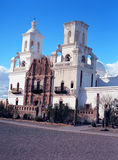 San Xavier Mission. Spanish mission San Xavier del Bac started in 1692 by Spanish missionaries in the Americas Stock Photos