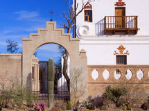 San Xavier Mission Tucson, Arizona Royalty-vrije Stock Afbeeldingen