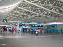 SAN YA AIRPORT DEPARTURE HALL. Hainan province China photoed in august 2010 Stock Photography