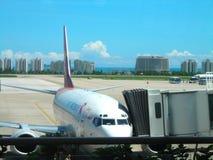 SAN YA AIRPORT PARKING APRON Royalty Free Stock Photography