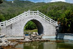 San Ya, China: Bridge at Nanshan Temple Stock Photo